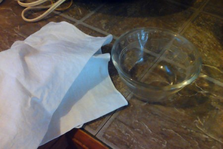 Napkin and heat proof dish