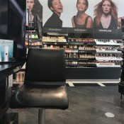 A makeup chair at Sephora.