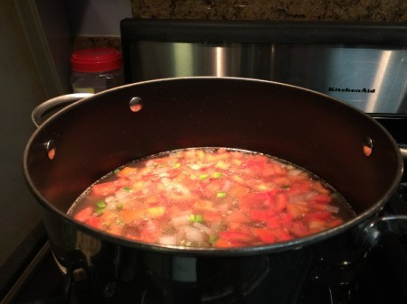 cooking tomatoes in soup