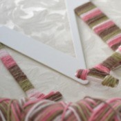 Yarn Wrap Letters and Hanger  - wrapped hanger and partially wrapped letter