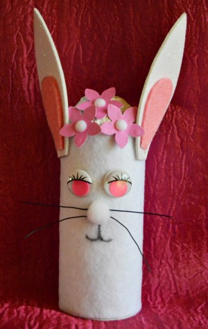 Upcycled Easter Bunny Craft - finished bunny