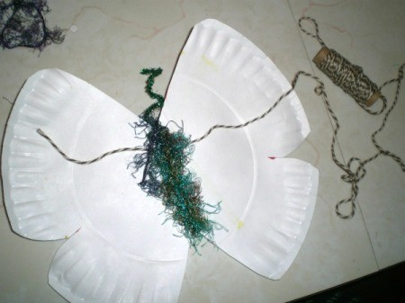 Make a Spring Butterfly from a Paper Plate - add a string for hanging
