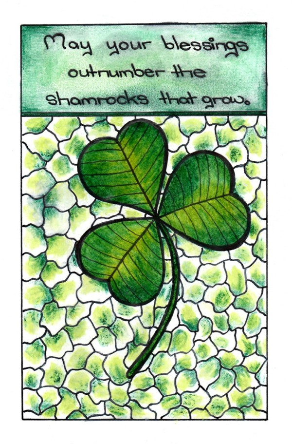 Shamrock Mini Adult Coloring Project