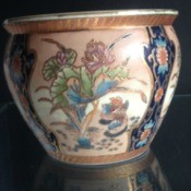 Value of Painted Ceramic Bowls and Jars - painted bowl with Asian pattern