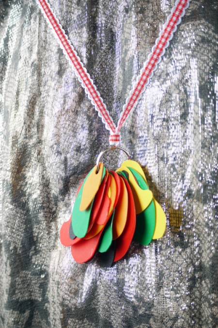 Statement Pendant Necklace - if using ribbon tie to key ring and finish ends