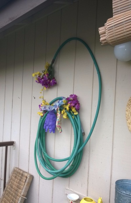 Hose Wreath for Your Deck or Balcony