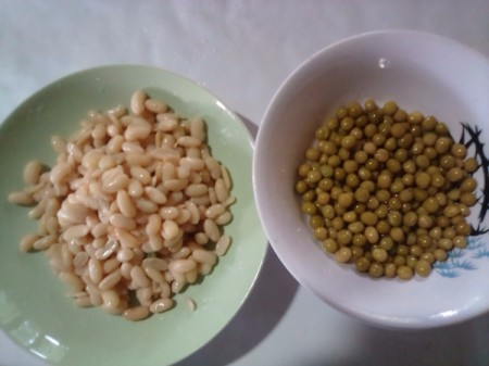 Beans and peas.