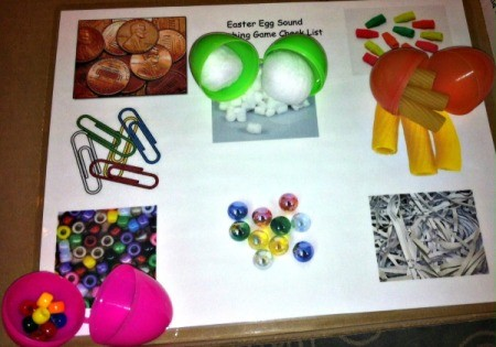 Easter Egg Sound Matching Activity - finished game
