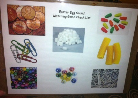 Easter Egg Sound Matching Activity - copy images on Google over to Word and print out doc