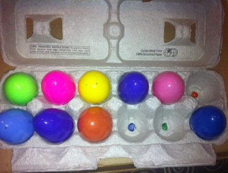 Egg Carton Pre-K Math - color matching