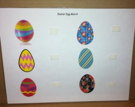 Simple Paper Easter Egg Match - design of game board
