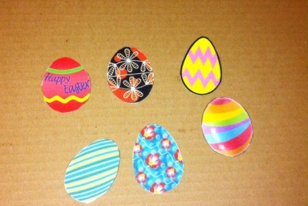 Simple Paper Easter Egg Match -  laminated eggs