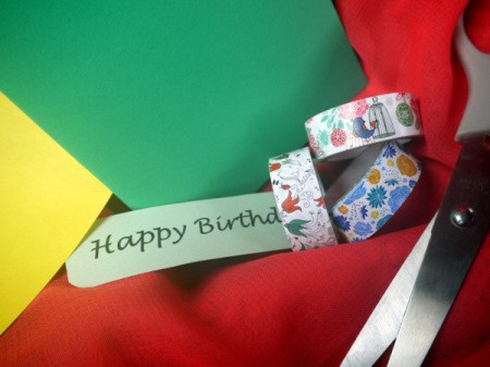 Candle Birthday Card - supplies