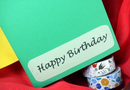 Candle Birthday Card - glue greeting to card