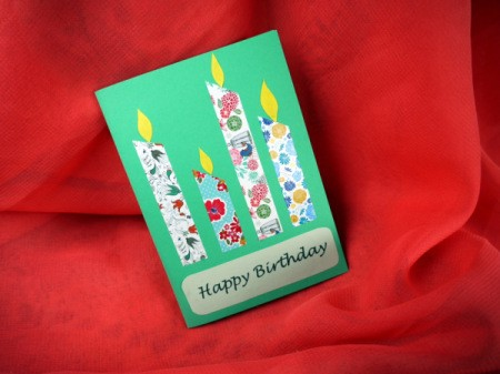 Candle Birthday Card - finished card