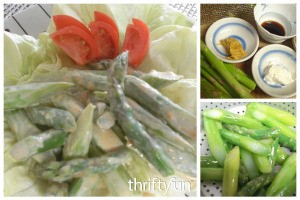 Asparagus Salad with Peanut Dressing