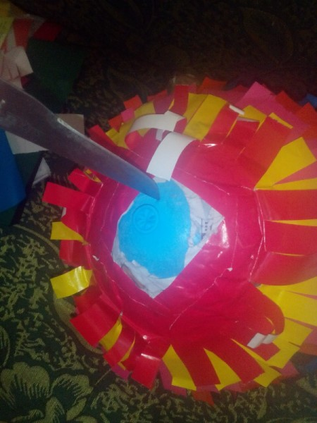 DIY Piñata - when dry pop balloon
