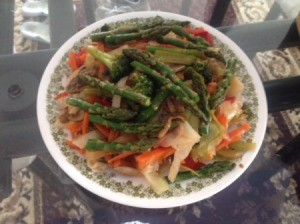 Bowl filled with Stir Fry Vegetables