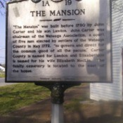 A sign at the Carter Mansion in Tennessee.