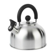 Stainless stovetop whistling tea kettle