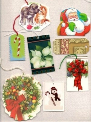 Reuse Christmas Cards as Gift Tags
