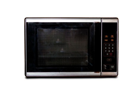 An old microwave oven.