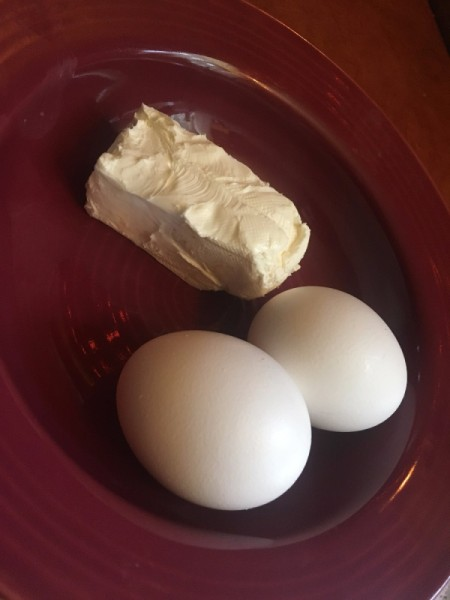 Cream Cheese and eggs