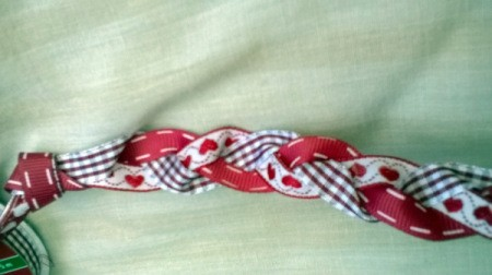 Revamp an Old Headband with Ribbon - braid and tie knot at the other end