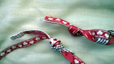 Revamp an Old Headband with Ribbon - knotted ends