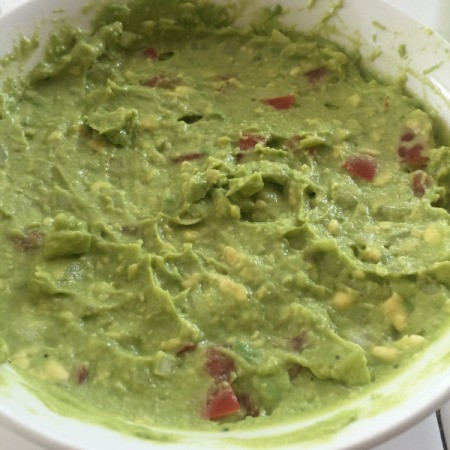 Homemade Guacamole in bowl