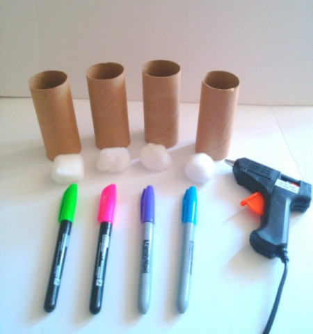 Toilet Paper Tube Easter Bunnies - supplies