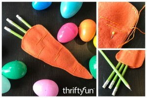Felt Carrot Pencil Gift Pocket