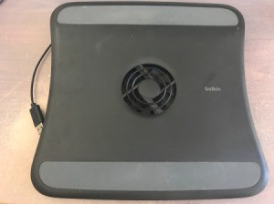 A USB Laptop Cooling Pad and Fan