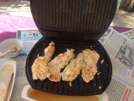 Grilled Chicken in grill
