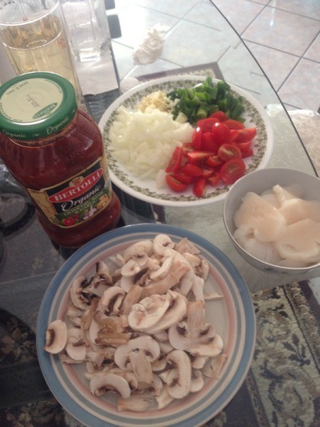 Grilled Chicken and Macaroni ingredients