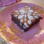 Brownie on plate