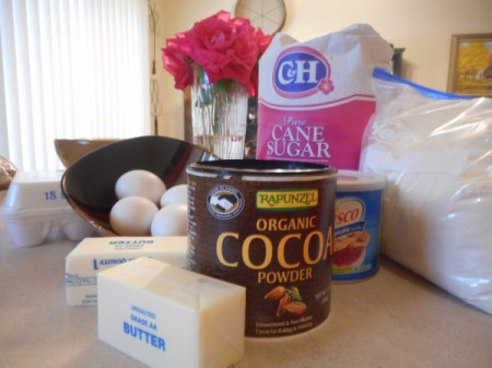 Brownies ingredients