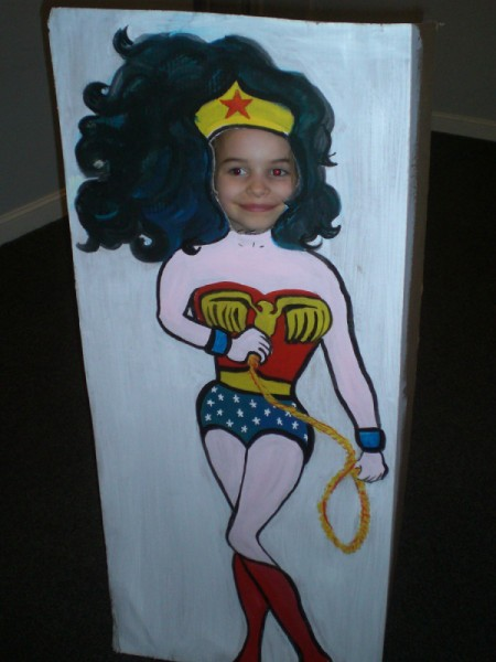 Photo Cutouts for Any Party - Wonder Woman with child's face