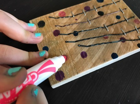 Bobby Pin Thumb Piano - decorate with markers