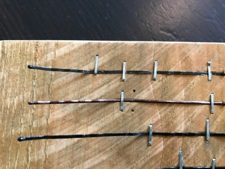 Bobby Pin Thumb Piano - add additional staples if sound not quite right