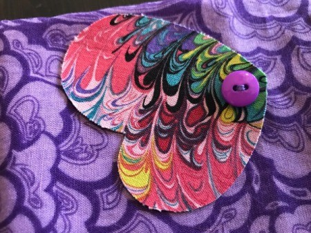 Fabric Chicken Doorstop - sew wings on with a button