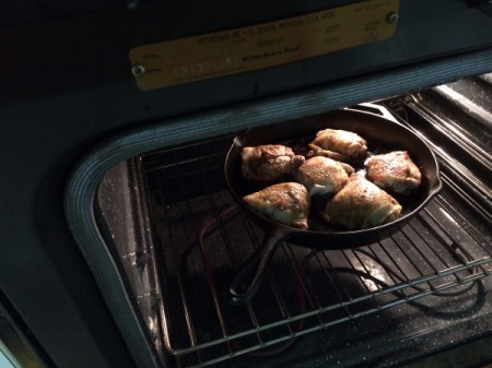 Balsamic Chicken uncovered in oven