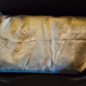 Polypropylene Bag as Dog Mattress  - newspaper stuffed bag