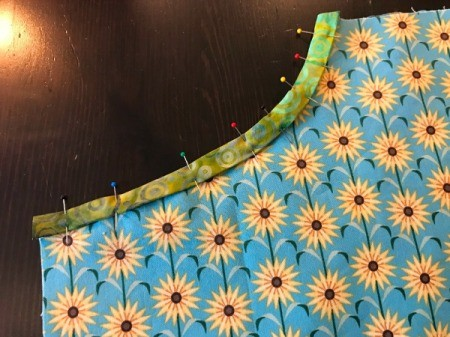 Clothespin Apron - inside edge of pocket