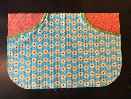 Clothespin Apron - lay and adjust the pouch so that edges match