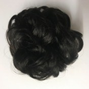 An updo wrap to attach to black hair.
