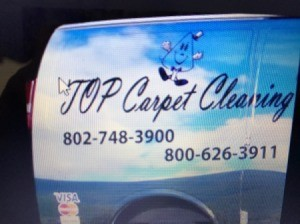 Catchy Phrase for Carpet Cleaning Business - side of cleaning van