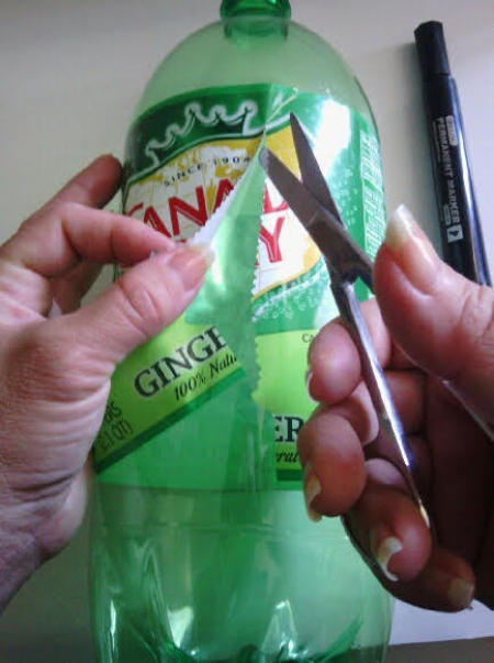 Recycled Soda Bottle Cup - remove label