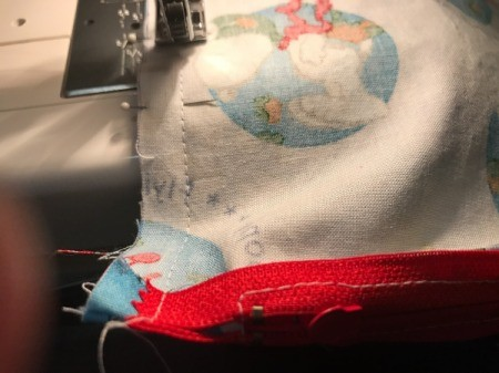 "Book Pocket Pillow - Then sew with 1/2"" seam."