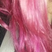 Toning Down Dyed Hair - bright pink hair